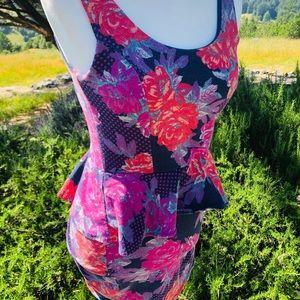Flower Mini Dress